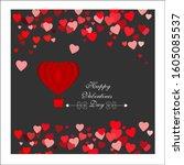 happy valentines day vector...   Shutterstock .eps vector #1605085537