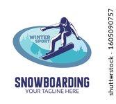 winter sport design  ... | Shutterstock .eps vector #1605090757