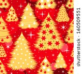 seamless christmas pattern with ... | Shutterstock .eps vector #160509551
