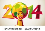 soccer 2014 brasil | Shutterstock .eps vector #160509845