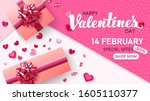 happy valentine's day   special ... | Shutterstock .eps vector #1605110377