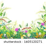 Horizontal Border With Summer...