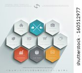 minimal web template | Shutterstock .eps vector #160512977