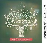 christmas handwritten typography | Shutterstock .eps vector #160513025