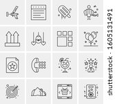 16 universal business icons... | Shutterstock .eps vector #1605131491