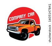 truck classic car emblem logo... | Shutterstock .eps vector #1605147841