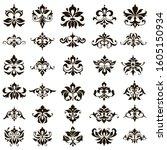 ornamental design lace borders... | Shutterstock .eps vector #1605150934