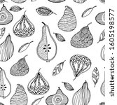 pear fruit seamless pattern in...   Shutterstock .eps vector #1605198577