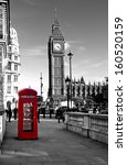 Red Telephone Box And Big Ben....