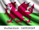 waving flag of wales | Shutterstock .eps vector #160524269