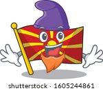 funny flag macedonia cartoon... | Shutterstock .eps vector #1605244861
