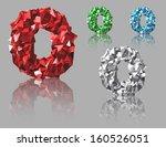 crystal alphabet vector | Shutterstock .eps vector #160526051