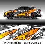 wrap car decal design vector ...   Shutterstock .eps vector #1605300811