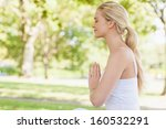 side view of peaceful young... | Shutterstock . vector #160532291