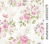 Stock vector seamless classic wallpaper vintage flower pattern grunge background 160533275
