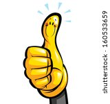 thumbs up smiling yellow... | Shutterstock .eps vector #160533659
