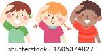 illustration of deaf or mute... | Shutterstock .eps vector #1605374827