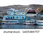 A Blue Building By The Nile In...