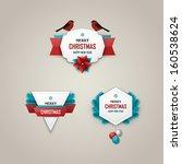 christmas labels set   Shutterstock .eps vector #160538624