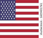 united states of america flag... | Shutterstock .eps vector #1605401761