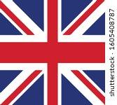 united kingdom flag vektor... | Shutterstock .eps vector #1605408787