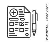 prescription line black icon....
