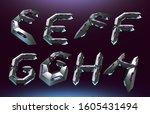 3d rendering font set in... | Shutterstock . vector #1605431494