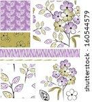 modern floral seamless vector...   Shutterstock .eps vector #160544579