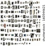 Vector Alphabet Letters Made O...