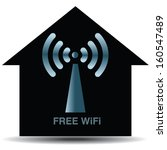 free wifi zone icon. wireless house concept. vector illustration