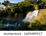 huluganga falls is a waterfall... | Shutterstock . vector #1605489517