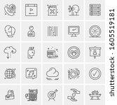 set of 25 universal business... | Shutterstock .eps vector #1605519181