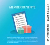 member benefits concept. member ...   Shutterstock .eps vector #1605531184