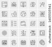 set of 25 universal business... | Shutterstock .eps vector #1605535561