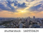 cityscape topview at the... | Shutterstock . vector #160553624