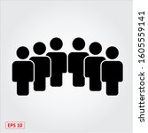 people web icon. vector and... | Shutterstock .eps vector #1605559141