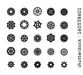 gear icons set | Shutterstock .eps vector #160558601