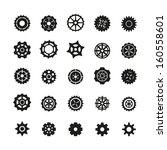 gear icons set | Shutterstock .eps vector #160558601
