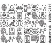 line icons of identity... | Shutterstock .eps vector #1605642964