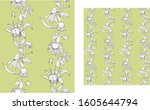 seamless vertical pattern with...   Shutterstock .eps vector #1605644794