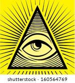 all seeing eye | Shutterstock .eps vector #160564769