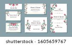 set of wedding invitation cards ... | Shutterstock .eps vector #1605659767