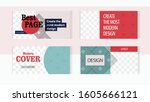 elegant red and pastel colors... | Shutterstock .eps vector #1605666121