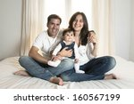 young couple mother father and... | Shutterstock . vector #160567199