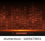 big genomic data visualization. ... | Shutterstock .eps vector #1605673831