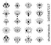 eye symbols. evil eyes sign ...   Shutterstock .eps vector #1605687217