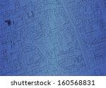 vector city blueprint. | Shutterstock .eps vector #160568831