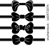 an image of a black bowtie set. | Shutterstock .eps vector #160572074