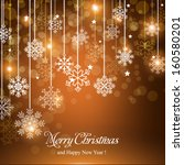 merry christmas and happy new... | Shutterstock .eps vector #160580201