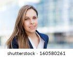 beautiful businesswoman outdoor ... | Shutterstock . vector #160580261